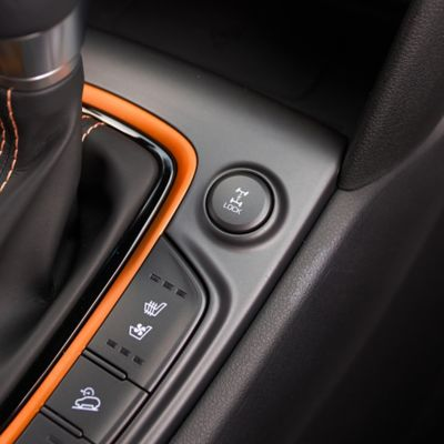 Photo showing the button used to activate the All Wheel Drive system.