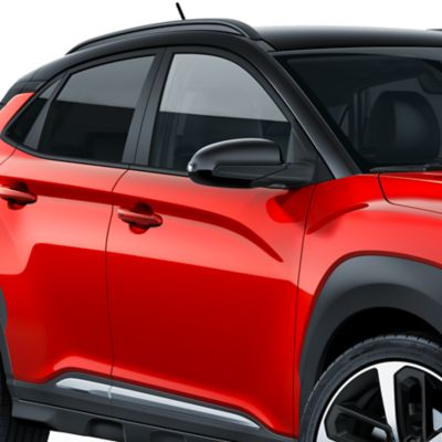 Photo of the exterior mirrors on the all-new Hyundai Kona.