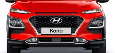 Photo of the cascading grille on the all-new Hyundai Kona.