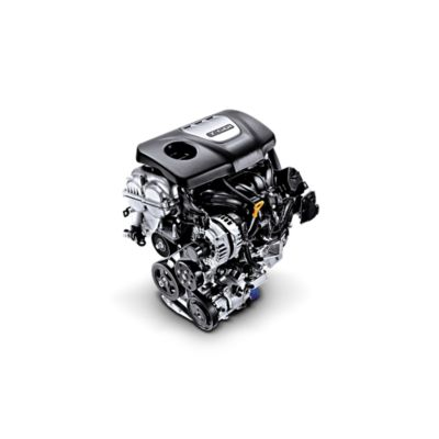 Photo of the 1.6 T-GDI petrol engine in the all-new Hyundai Kona.