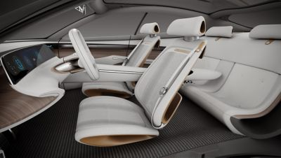 Computer rendering of the interior of the concept car.