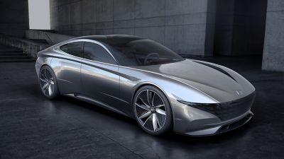 Rendering of the the 2018 Le Fil Rouge concept car.