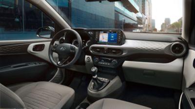 Photo of the interior of the Hyundai i10.