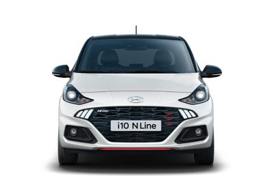 The Hyundai i10 N Line front view