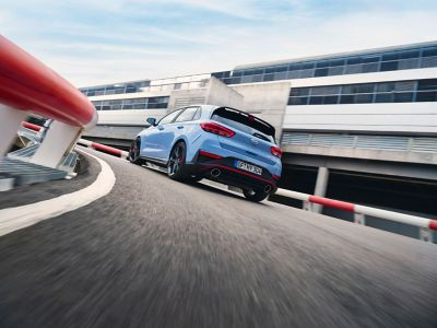launch control reduces wheel spin or slip when launching fast with thenew Hyundai i30 N