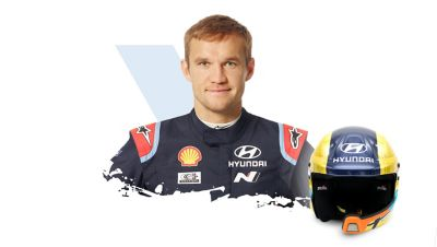 Hyundai Motorsport Martin Järveoja and his helmet