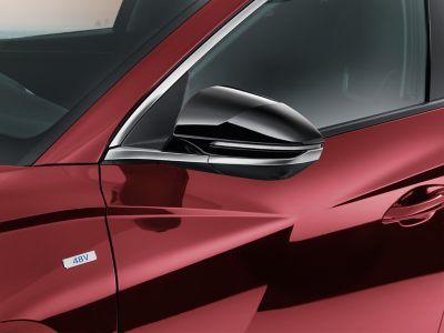 The Hyundai TUCSON with door mirror caps in piano black.