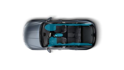 The seven-airbag system enhancing safety inside the all-new Hyundai Tucson compact SUV.