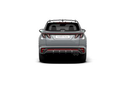 Vue arrière de Hyundai TUCSON Plug-in N Line Nouvelle Génération dans sa teinte Shadow Grey.