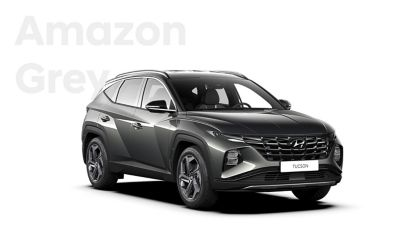 The different color options for the all-new Hyundai Tucson compact SUV: Amazon Grey.