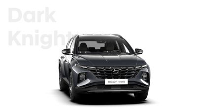 The different color options for the all-new Hyundai Tucson Hybrid compact SUV: Dark Knight.