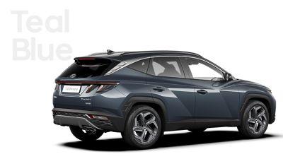 Coloris disponible sur le SUV compact TUCSON Hybrid Nouvelle Génération : Teal Blue.