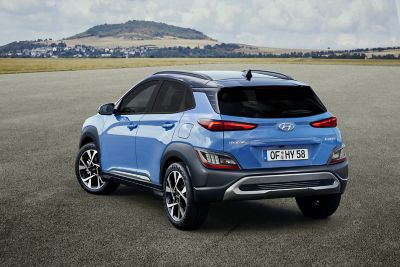 Focus on the tail lamps of the new Hyundai KONA