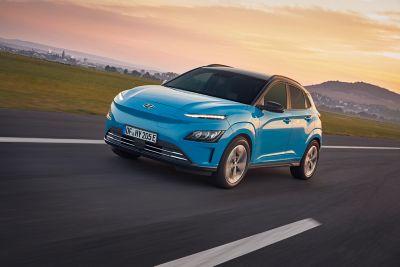 The Hyundai KONA Electric driving
