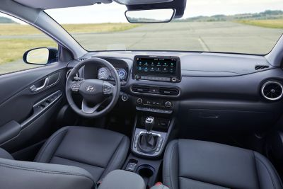 The interior of the new Hyundai Kona.