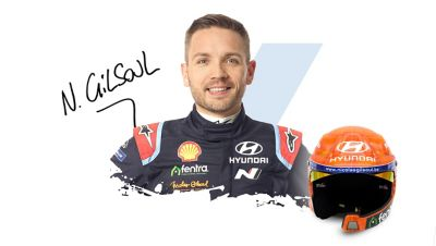 Hyundai Motorsport co-driver Nicolas Gilsoul and signature