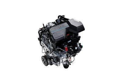 Il motore a benzina T-GDi da 1,6 litri del SUV compatto Nuova Hyundai TUCSON Hybrid.