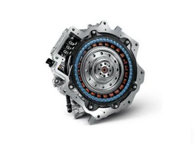 Il potente motore elettrico da 44,2 kW del SUV compatto Nuova Hyundai TUCSON Hybrid.
