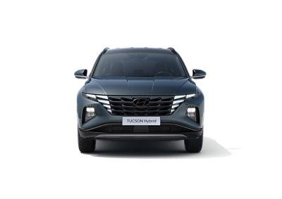 Immagine frontale del SUV compatto Nuova Hyundai TUCSON Hybrid.