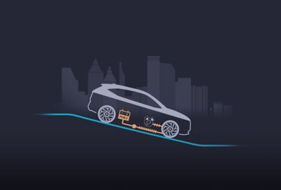Il sistema di frenata rigenerativa ricarica la batteria sfruttando il motore elettrico per rallentare l'auto. Durante la decelerazione o le discese, l'energia generata viene immagazzinata nella batteria.