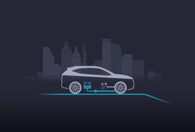 Il motore elettrico e il motore termico forniscono potenza a Nuova Hyundai TUCSON Plug-in Hybrid.