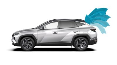 Il portellone Smart Power consente il facile caricamento dei bagagli nel Nuovo SUV compatto Hyundai TUCSON Plug-in Hybrid.