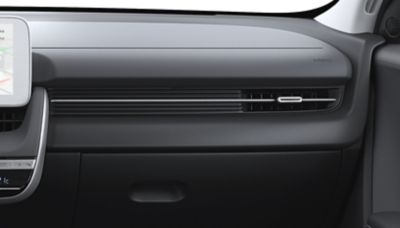 Le opzioni di colore per gli interni del crossover 100% elettrico Hyundai IONIQ 5 Obsidian Black