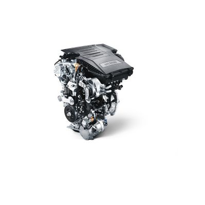 An image of the hybrid engine available in the all-new Hyundai Tucson compact SUV.
