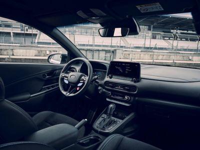 Interior of the Hyundai KONA N hot SUV