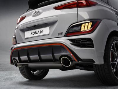 Rear bumper of the Hyundai KONA N hot SUV