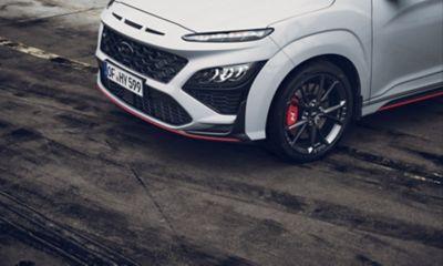Detail of the Hyundai KONA N hot SUV front bumper