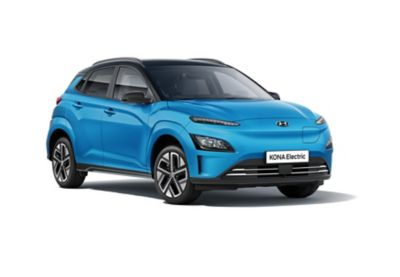 The new Hyundai Kona Electric with its unique closed grille set.