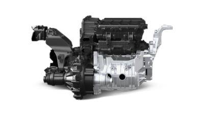 Elmotoren i elbilen Hyundai KONA Electric. Foto.