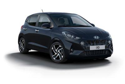 Hyundai i10 Phantom Black vrijstaand.