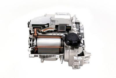 Justerbar regenerativ bremsing i elbilen Hyundai IONIQ 5 Project 45 crossover. Foto.