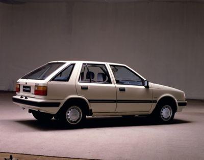 Pojazd firmy Hyundai z lat 80