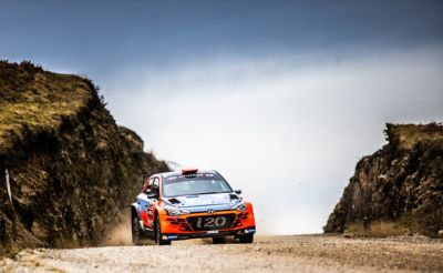 Photo of the Hyundai i20 R5.