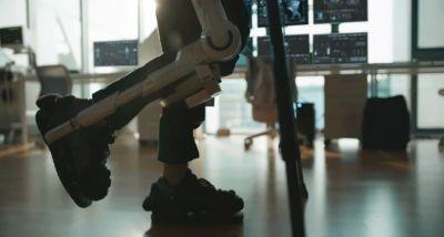 Closeup of Hyundai wearable robotic legs