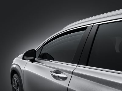 Graphic showing the window of the all-new Hyundai Santa Fe.