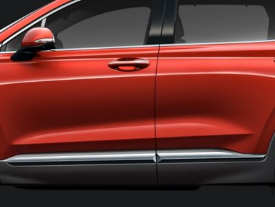 Detail view of the all-new Hyundai Santa Fe's character line.
