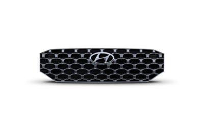 L'ampia griglia del SUV 7 posti Nuova Hyundai Santa Fe Hybrid