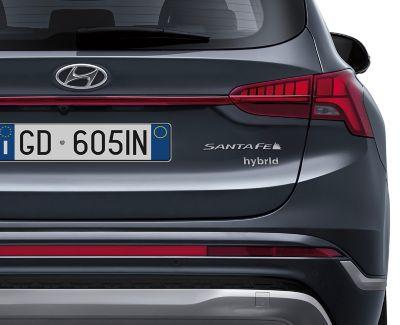 Badge posteriore hybrid del Nuovo SUV 7 posti Santa Fe Hybrid