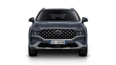 I nuovi fare a LED e il nuovo paraurti del SUV 7 posti Nuova Hyundai Sante Fe Hybrid