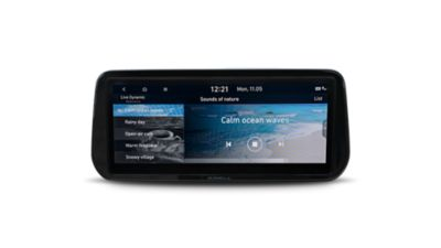 """Foto del comodo e ampio touchscreen da 10,25"""" di Nuova Hyundai Santa Fe Hybrid"""