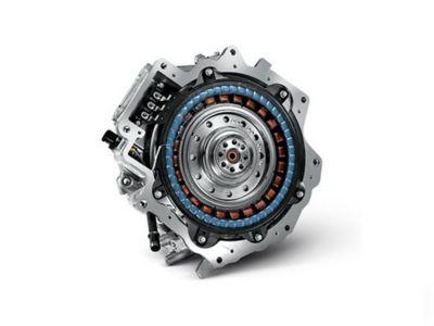 Illustrazione del motore elettrico di Nuova Hyundai Santa Fe Hybrid