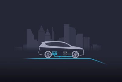 Uso del motore termico o elettrico del SUV 7 posti Nuova Hyundai Santa Fe Hybrid