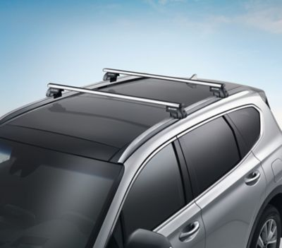 Genuine accessories cross bars for the Hyundai SANTA FE.