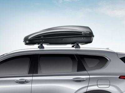 Genuine Accessories roof box for the Hyundai SANTA FE.