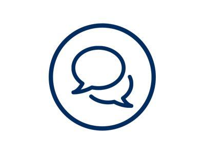 Ikona ilustrująca wyszukiwanie funkcji video chatu dealera Hyundai dostępnej dla klientów Hyundai.