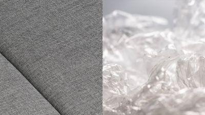 En la fabricación de cada Hyundai IONIQ 5 se trituran botellas de plástico para crear una tela sostenible para la tapicería.